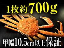 茹で松葉ガニ(約700g・甲幅10.5cm以上保証)