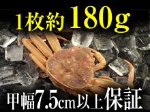 ・活セコガニ(180g・甲幅7.5cm以上保証)