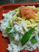彩り鮮やか!若松葉ガニdeちらし寿司