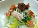 茹セコガニ(親ガニ)と白菜漬の和え物